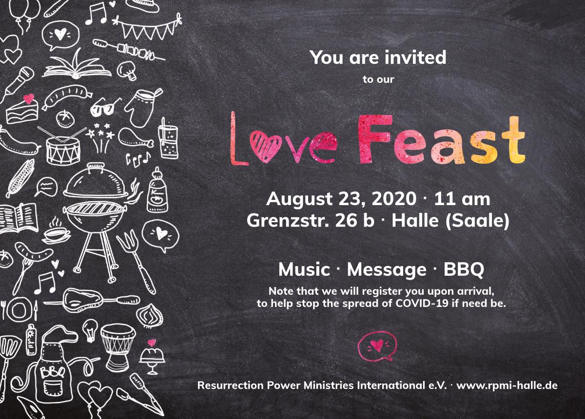 Love Feast 2020 Flyer