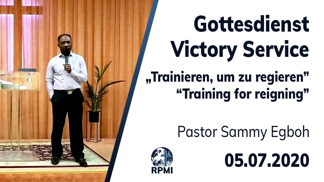 Livestream Trainieren um zu Regieren Youtube Pastor Sammy