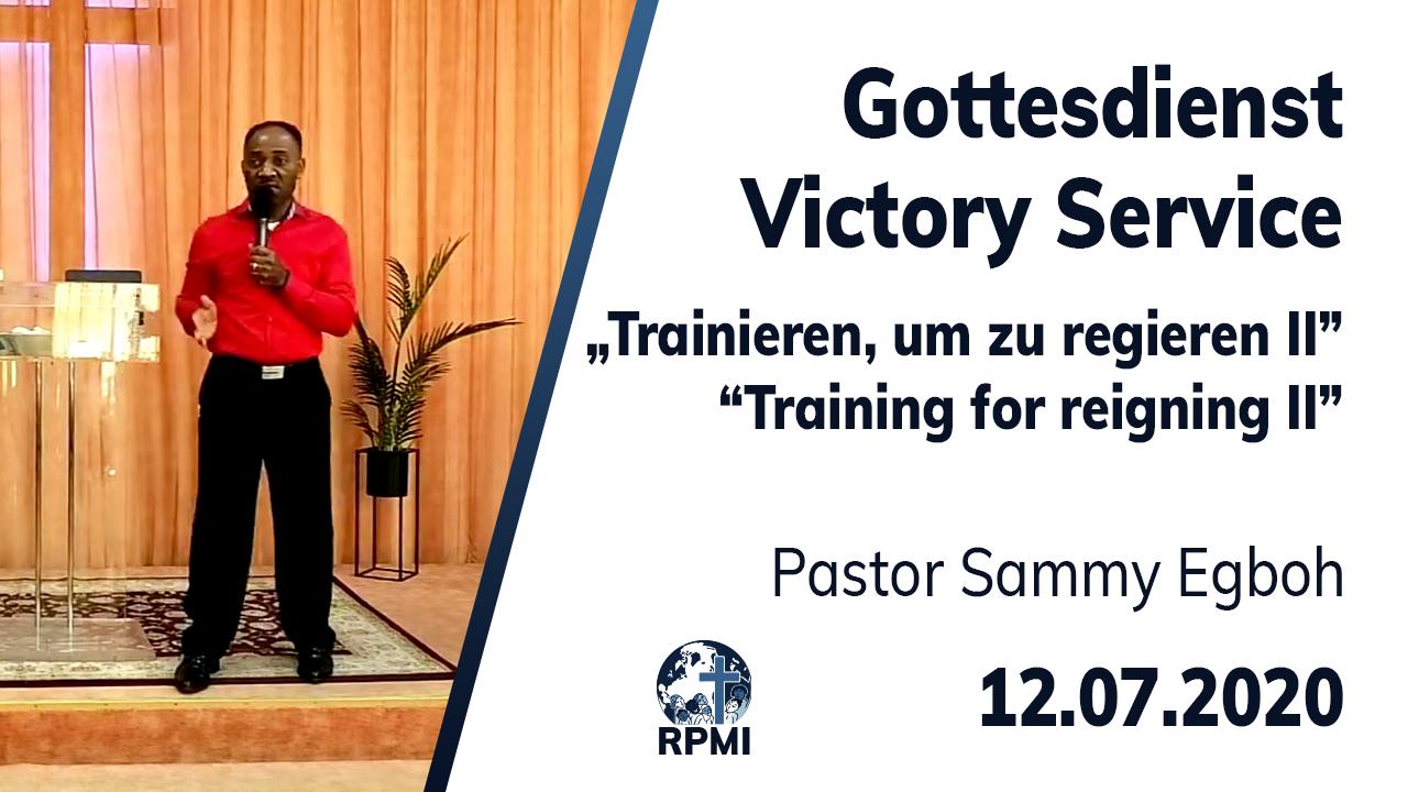 Livestream Trainieren um zu Regieren 2 Youtube Pastor Sammy