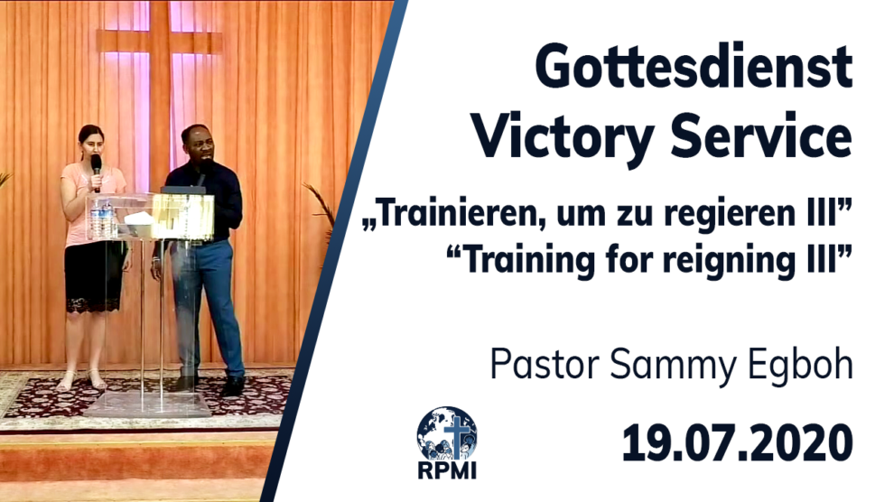 Training for reigning Part 3 Pastor Sammy Egboh