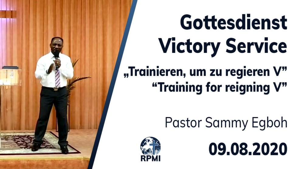Training for reigning Part 5 Pastor Sammy Egboh