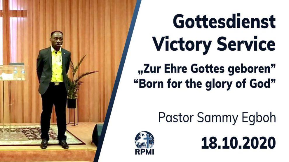 Zur Ehre Gottes geboren Pastor Sammy Egboh