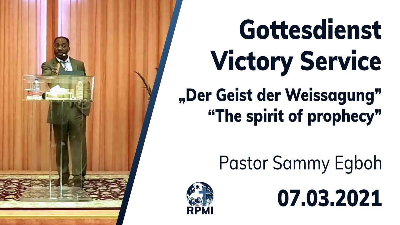 2021-03-07 Geist der Weissagung