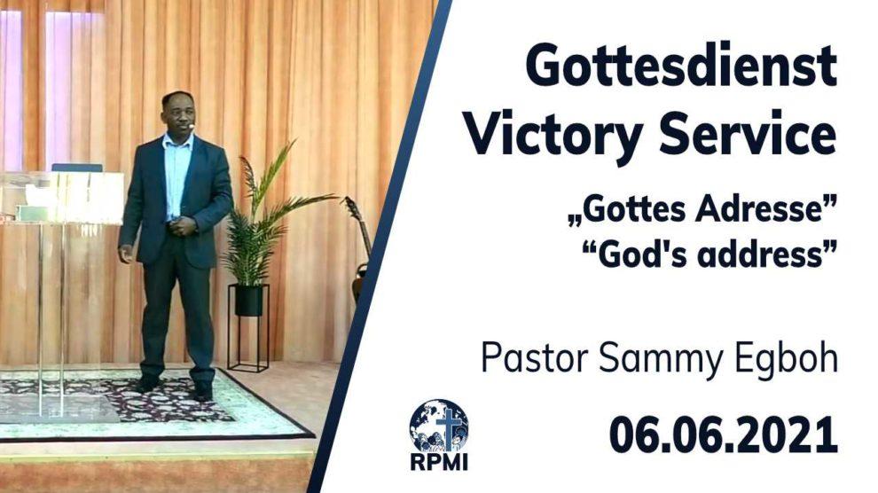 2021-06-06 God's Address