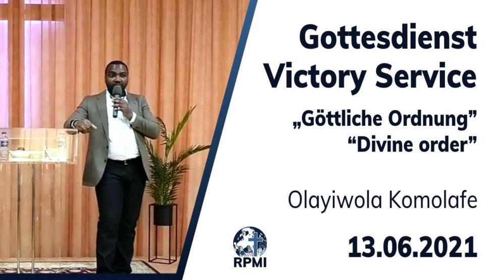 Vorschaubild Livestream 13. Juni 2021 Olayiwola Komolafe Göttliche Ordnung