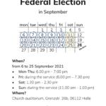 Flyer Prayer for Election 2021
